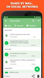 Voice notes - quick recording of ideas - náhled