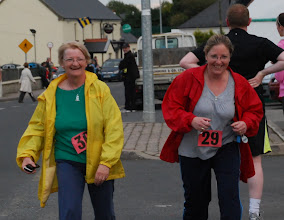 Photo: Mary Connors & Gemma Darcy finishing the 3km Fit4Life Race