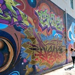 graffiti alley way in Toronto in Toronto, Ontario, Canada