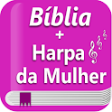 Bíblia Sagrada e Harpa para Mulher Offline icon