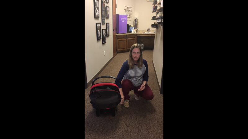 The number one easiest way to carry your baby in their car seat!
