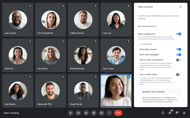 Google Meet meeting hosts now have more control of participant's audio and video feeds for smoother, more productive meetings