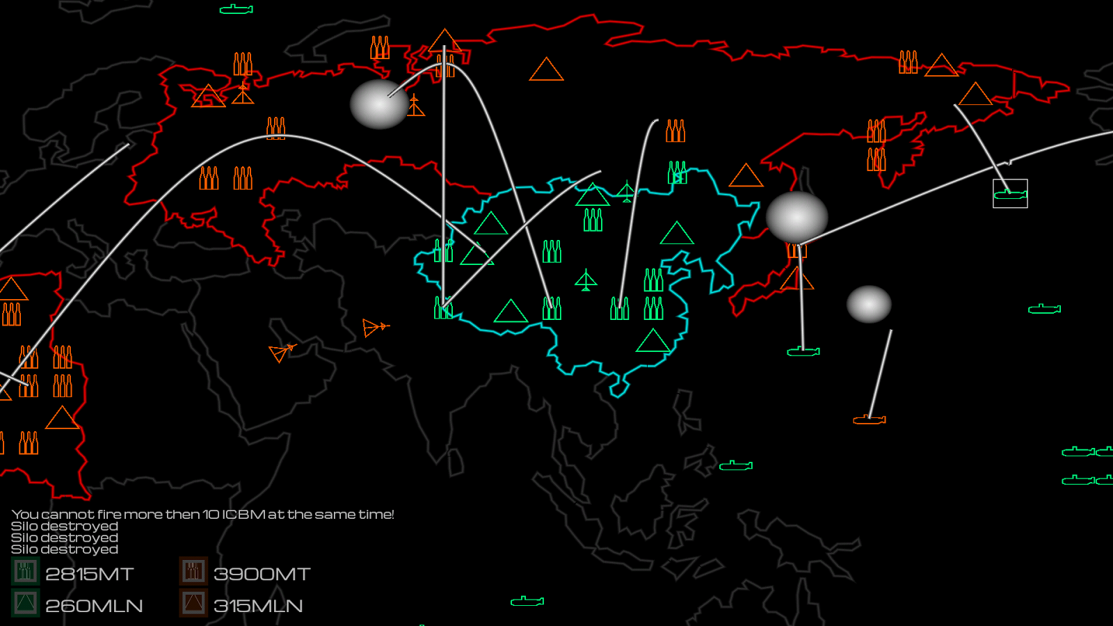 Global Thermonuclear War II- screenshot