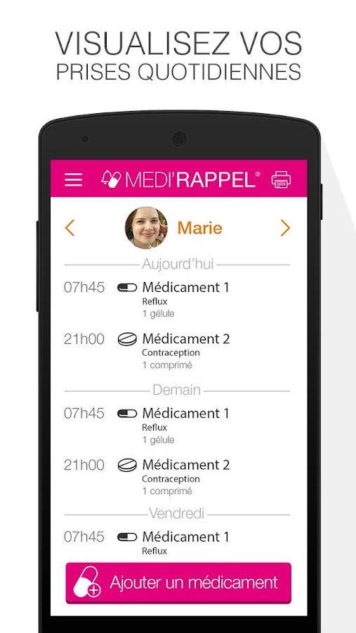 Medi'Rappel- screenshot