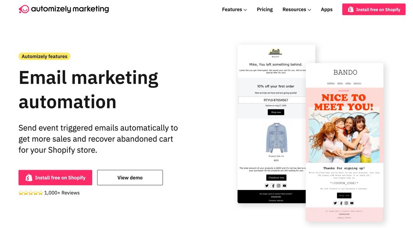 Best Ecommerce Email Marketing App 2021: Automizely Marketing