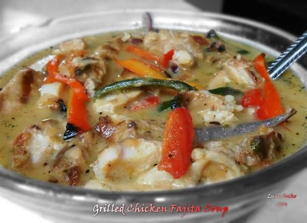 Grilled Chicken Fajita Soup