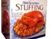 You may use 14 ounces seasoned stuffing mixture in place of bread cubes, but...