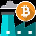 Bitcoin fábrica libres icon