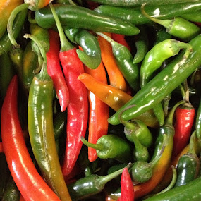 Chillies by Arend Van der Walt - Instagram & Mobile iPhone ( chillies, green red, mixed, iphone )