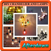 DIY Chandelier and Lamps