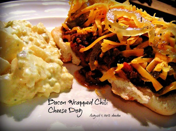 Bacon Wrapped Chili Cheese Dogs Recipe