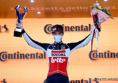 Alsnog een welverdiende prijs voor Thomas De Gendt aan het einde van de Giro