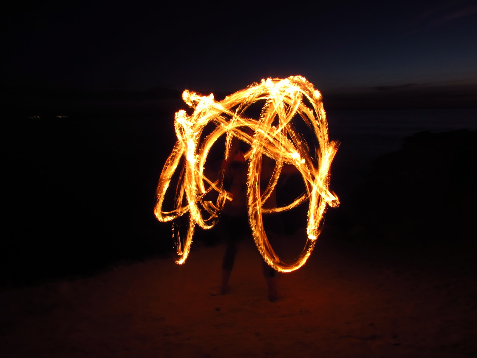 photo of a light source (likely a sparkler) waved around against a dark background to create a multi-lined light circle