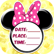 Minni Mouse Invitation Card