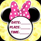 Minni Mouse Invitation Card icon