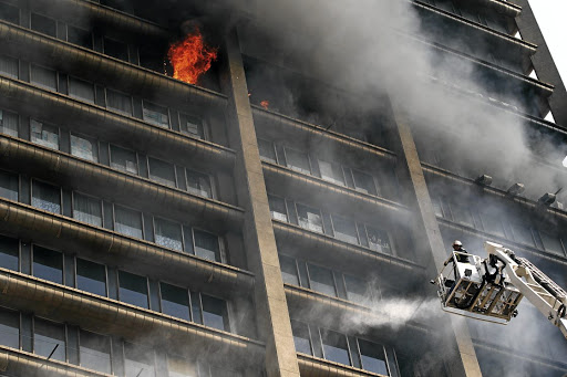 Death trap: The Bank of Lisbon building did not comply with building safety standards. Picture: Sowetan/Sandile Ndlovu