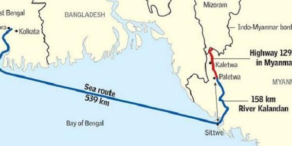 Image result for kaladan multi-modal transit transport project
