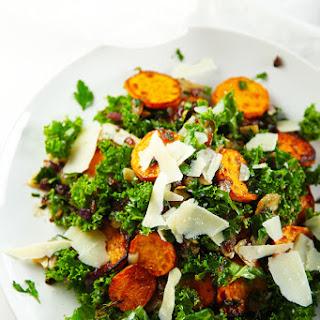 Sweet Potato, Kale and Crispy Onion with Parsley Vinaigrette Recipe