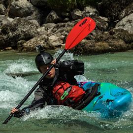 Kayaker by Iztok Urh - Sports & Fitness Watersports