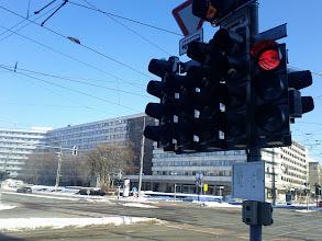 Photo: Wozu Chemnitz so viele Ampeln braucht ? Auf den Straßen ist wenig Verkehr