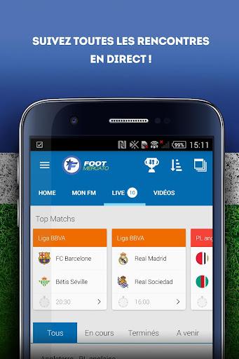 Foot Mercato : transferts, ru00e9sultats, news, live 3.6.10 screenshots 4