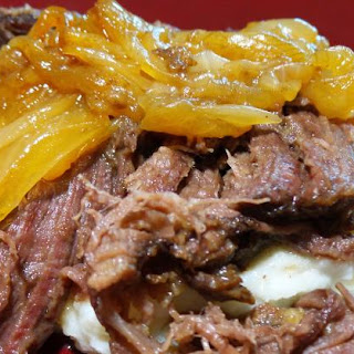 Beer-Braised Elk Chuck Roast with Onions