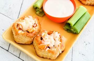 Buffalo Chicken Puff Pastry