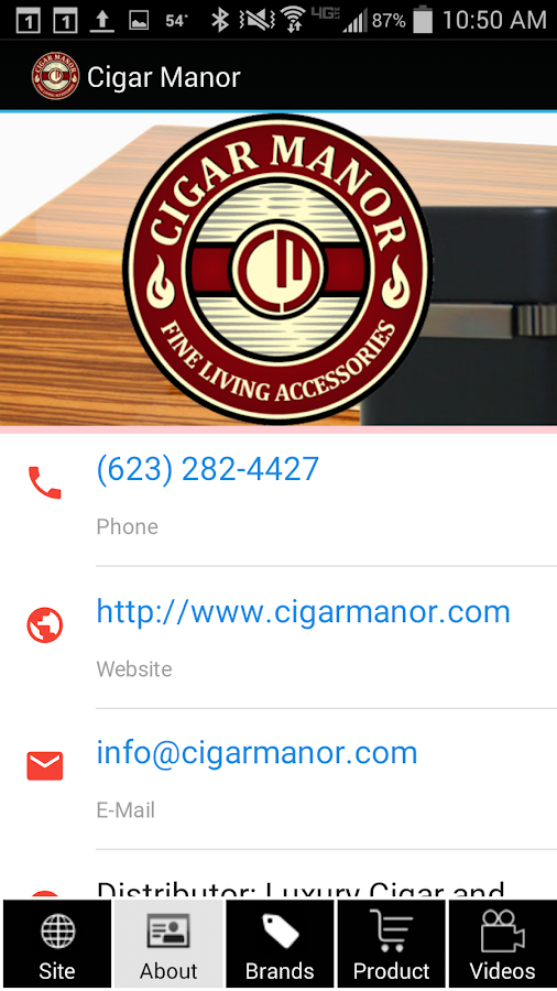 Cigar Manor Store- screenshot