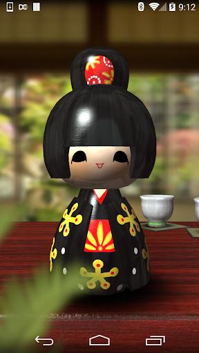 日本の芸者人形3D