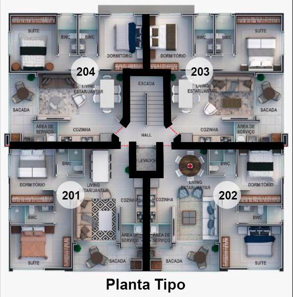 Apartamento com 2 Dormitórios à venda, 67 m² por R$ 695.000,00
