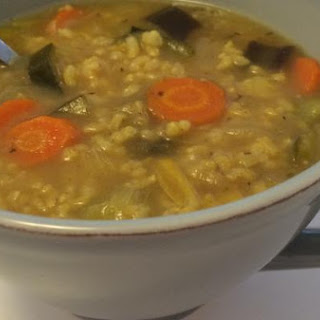 Moroccan Vegan Rice Soup
