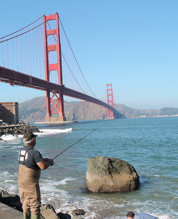 This is a great place to snap some shots of local fishermen with the bridge in the background.