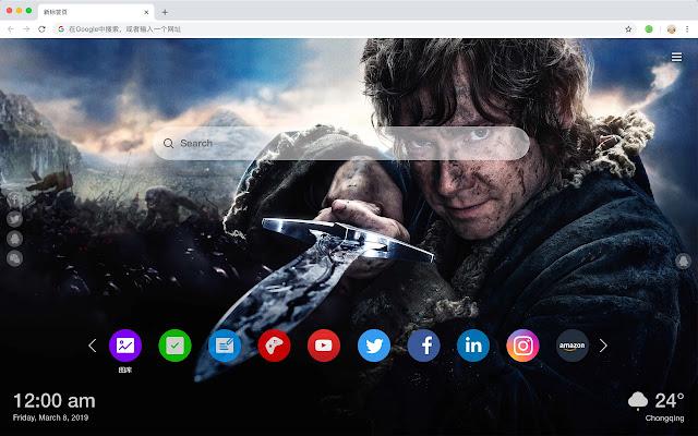 The Hobbit Movies New Tab HD Themes