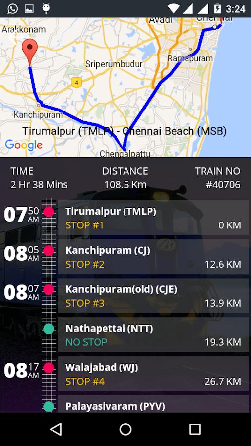 Chengalpattu to beach local train timings