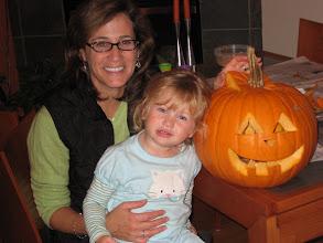 Photo: Leah's first pumpkin