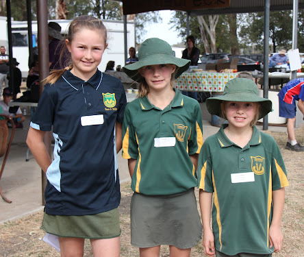 Fairfax Public School students Erin, Brigid and Eileen Murphy starred at the Narrabri Zone Cross Country Carnival hosted by their school last Friday. The trio all qualified for tomorrow's North West Regional Cross Country Championships to be held at Coolah.