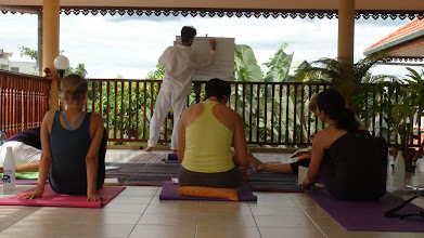 Photo: Daniel Fonseca during Yoga Class in Chiang Mai, Thailand.