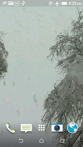 雪の3Dビデオライブ壁紙