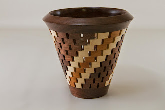 "Photo: Bob Grudburg 5"" x 5"" open segmented bowl [mix of woods]"