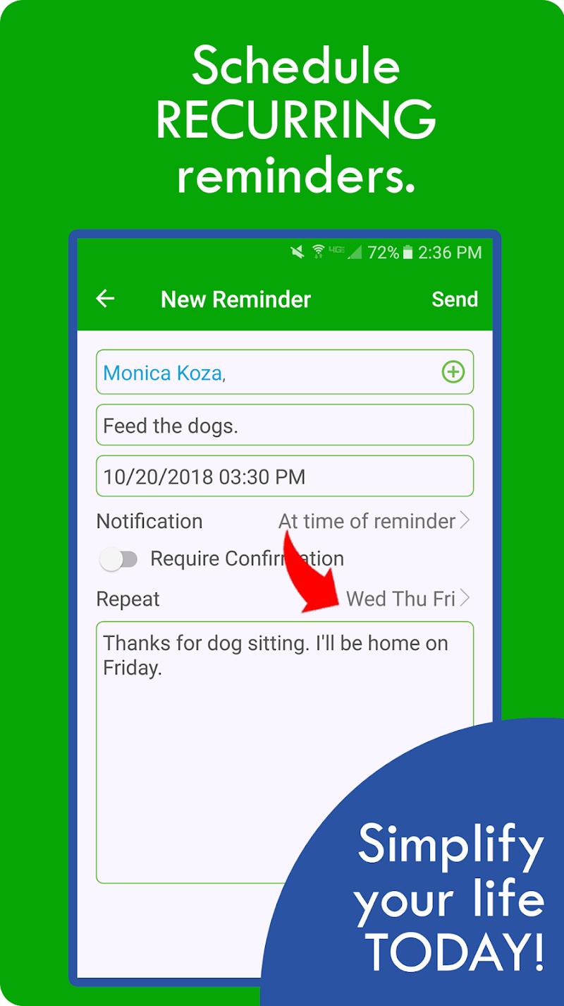 RemindVine: Remind Other People Screenshot 7