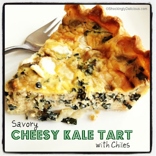 Savory Cheesy Kale Tart with Chiles Recipe