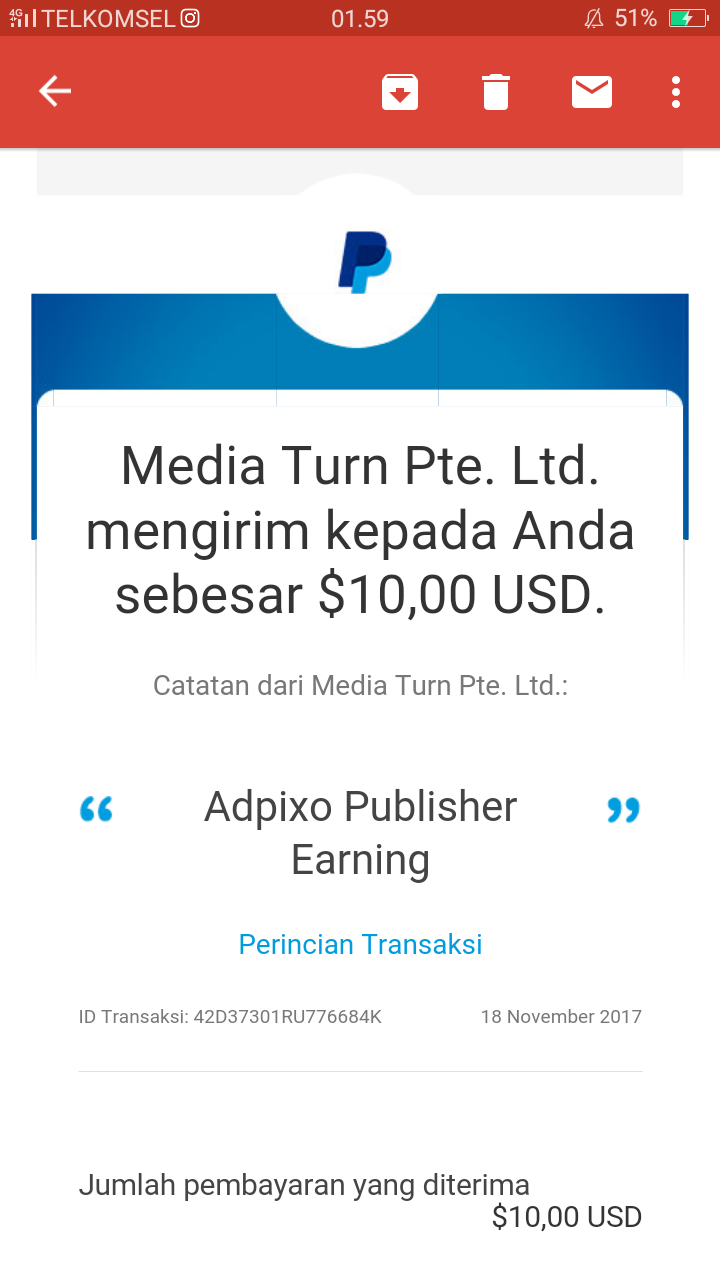 adpixo, payment proof