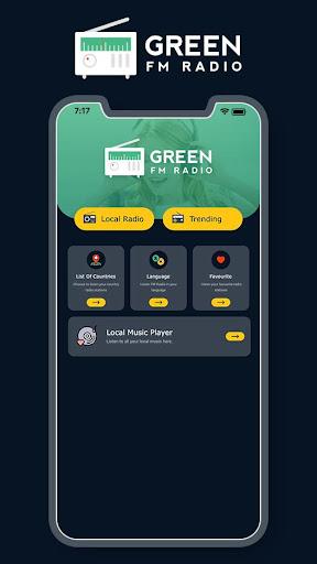 Green FM Radio Without Internet - Wireless FM 1.4 screenshots 1