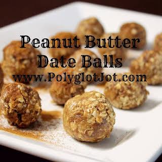 Peanut Butter Date Balls.