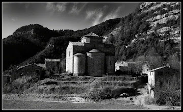Photo: Sant Jaume de Frontanyà is the smallest municipality in Catalonia in terms of population (19) !!!. The monumental Romanesque church of Sant Jaume (year 1140) is a protected historic-artistic monument.  My contribution to: #sacredsunday +SacredSunday™ curated by +Charles Lupica+Margaret Tompkins+Robyn Morrison+Sherrie von Sternberg+Manfred Berndtgen #breakfastclub +Breakfast Clubby +Gemma Costa #breakfastartclub +Breakfast Art Clubby +Kate Church