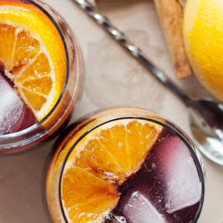 Orange Red Wine Spritzer.