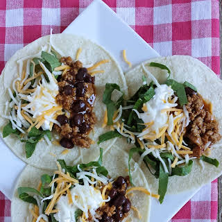 Easy Turkey & Black Bean BBQ Tacos.