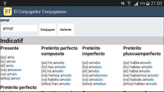 El Conjugador Spanish - náhled