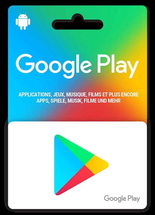 Cartes cadeaux GooglePlay