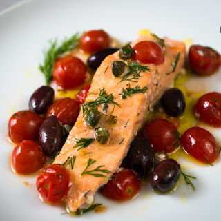 Mediterranean Style Oven Baked Salmon – Easy